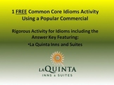 1 FREE Common Core Activity for Idioms in Commercials w/Answer Key