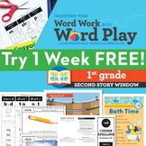 1 FREE Week 1st Grade Phonics & Chunk Spelling Curriculum
