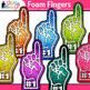 Foam Fingers Clip Art {Sports Fan Team Gear for Physical E