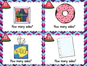 1.G.1 Task Cards Geometry Sides and Shapes