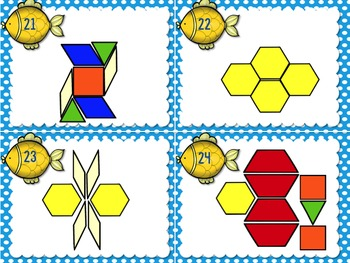 1.G.2 Task Cards Geometry Composing 2d Shapes