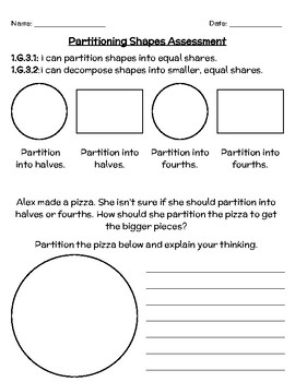 1.G.3 - Partitioning Shapes Assessment