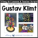 1 Gustav Klimt Easy Famous Artists Lessons (from Art History for Elementary 2)