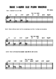 1-Hand Jazz Piano Voicing Worksheet