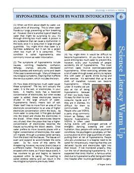 Science Sub Plans Literacy MEGA BUNDLE - 50 Secondary Science Reading Articles