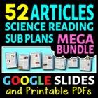 Science Sub Plans Literacy MEGA BUNDLE - 50 Secondary Scie