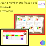 1. Number and Place Value: hundreds lesson pack (Y3)