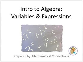 1) Intro to Algebra - Variables, Expressions, Etc (Complete 1.5+ day Lesson)
