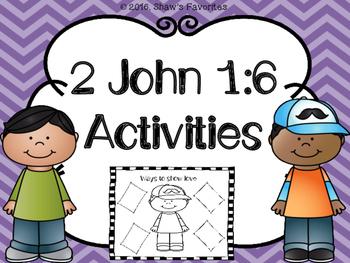 2 John 1:6 Activities {Bible Verse Activities}