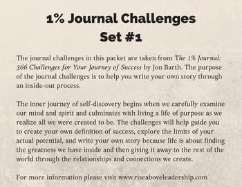 1% Journal Challenges: Set #1