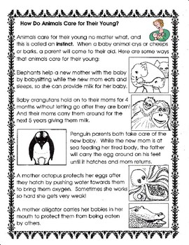 How Do Animals Care for Their Young? (1-LS1-2)