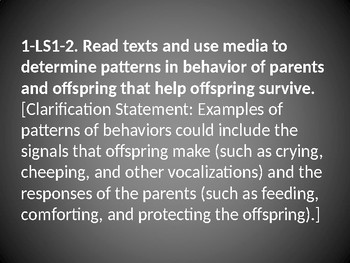 1 LS1-2 Parents Help Offspring Survive PowerPoint