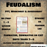 Feudalism - 1 - 2 Lesson Bundle - Middle Ages Medieval Europe