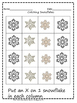 1 Little Snowman and Snowflake Math Activities