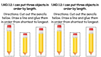 1.MD.1 - Ordering Objects by Length