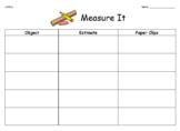 1.MD.2 Measure It Acitivities