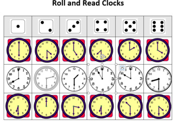 1.MD.3 Roll and Cover Clocks