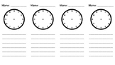1.MD.3 - Telling Time Anchor Chart Add-On