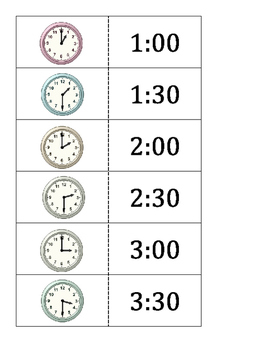 1.MD.3 and Pre 2.MD.7 Quiz Quiz Trade Clocks to the hour or half hour