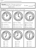 1.MD.B.3 Telling Time Test
