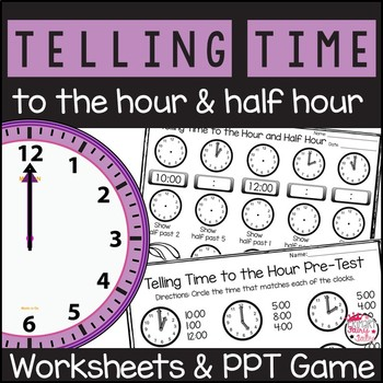 Telling and Writing Time PowerPoint Game