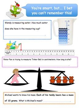 1 MONTH- Measurement Bundle (The Metric System- Mass, Length, & Volume)