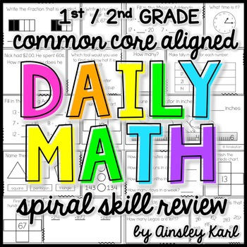 2nd Grade Daily Math Spiral Review/Morning Work for the YEAR