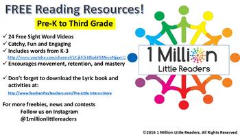 1 Million Little Readers A-Z Sight Word Songs