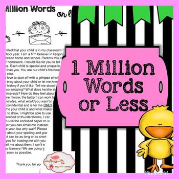 1 Million Words or Less