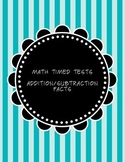 1 Minute Timed Math Facts Tests