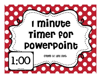 1 Minute Timer for PowerPoint Presentations