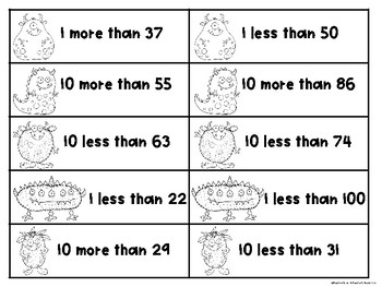 1 More 1 Less 10 More 10 Less Place Value Fun