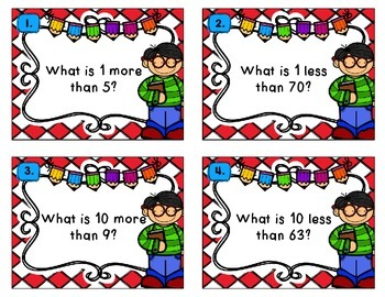 1 More, 1 Less, 10 More, 10 Less Task Cards & Cooperative Learning Activity