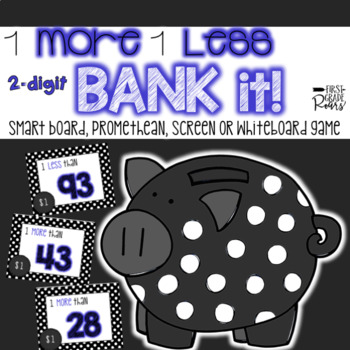 1 More 1 Less 2-Digit Bank It~ Projectable Game