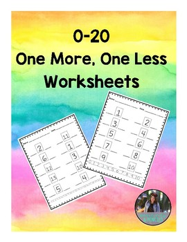 1 More 1 Less Worksheets