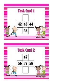 1 More Than, 1 Less Than, 10 More Than, 10 Less Than - Task Cards