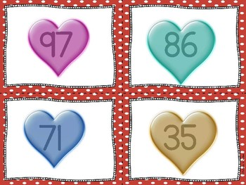 1.NBT.1 Valentine Match Model and Number