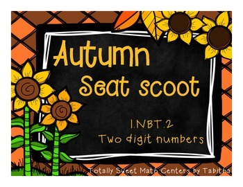 1.NBT.2 Autumn Seat Scoot Class Activity two digit numbers