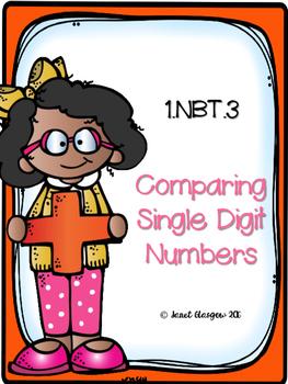 1.NBT.3 Comparing Single Digit Numbers