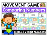 1.NBT.3 - Comparing Two Digit Numbers - Movement Game