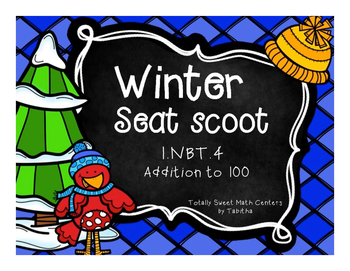 1.NBT.4 Winter Seat Scoot Class Activity- adding to 100