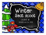 1.NBT.4 Winter Seat Scoot Class Activity- adding to 100