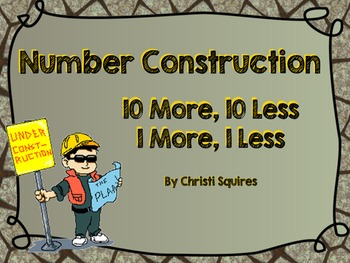 10 More, 10 Less, 1 More, 1 Less Number Construction (Powe