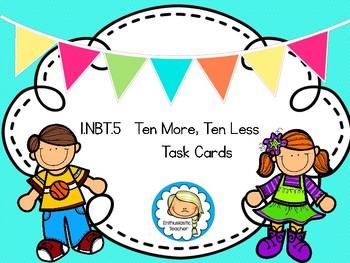 1.NBT.5 Ten More, Ten Less Task Cards
