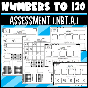 1.NBT.A.1 Assessment: 2 levels (numbers 1-50 and numbers 1-120)