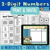1.NBT.B.2 Place Value Two-Digit Numbers  Google Slides Seesaw Digital Base Ten