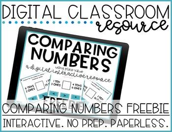 Digital Activity FREEBIE 1.NBT.B.3 Comparing Numbers