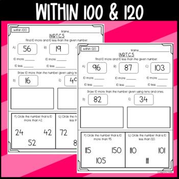 1.NBT.C.5 Assessment: 10 more or 10 less
