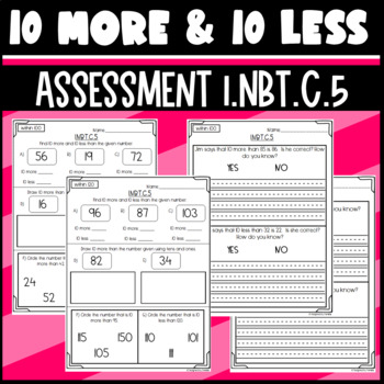 1.NBT.C.5 Assessment: 10 more or 10 less