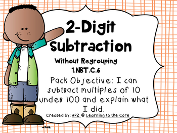 1.NBT.C.6 2 Digit Subtraction WITHOUT Regrouping